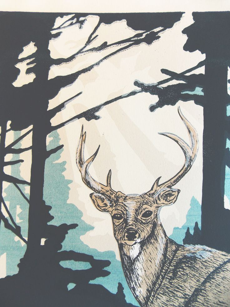 Crepuscular screenprint by Hope Sorensen and Lynette Spencer at Rabid Werewolf Press