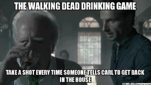 walking dead drinking game
