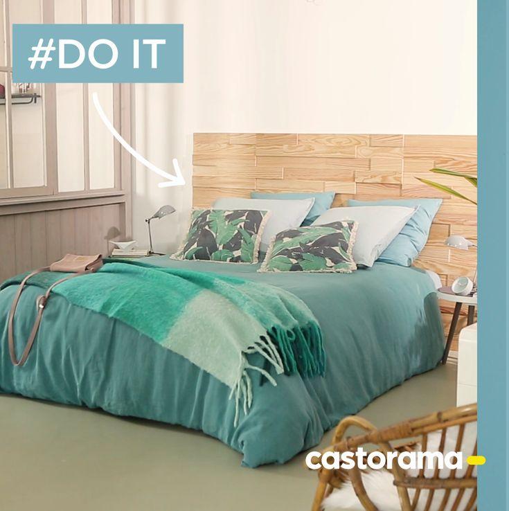 diy fabriquez une t te de lit avec des plaquettes de. Black Bedroom Furniture Sets. Home Design Ideas