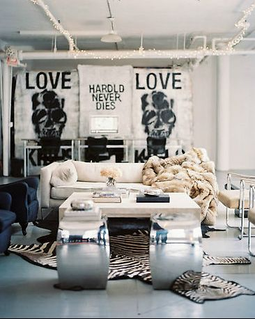 Mix of toughness with more muted decor