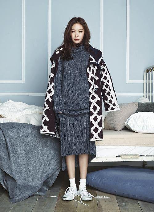 Kim Ah Joong Poses for November's Issue of Elle Magazine | Koogle TV
