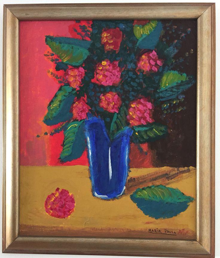 Jarro azul 70x50 Acrílico sobre lienzo Impresionismo