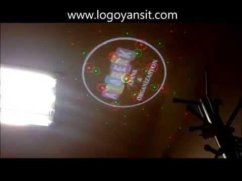Logo Yansit Tavan Dönen Logo ve Lazer Ataberk Mağaza Logoları - YouTube