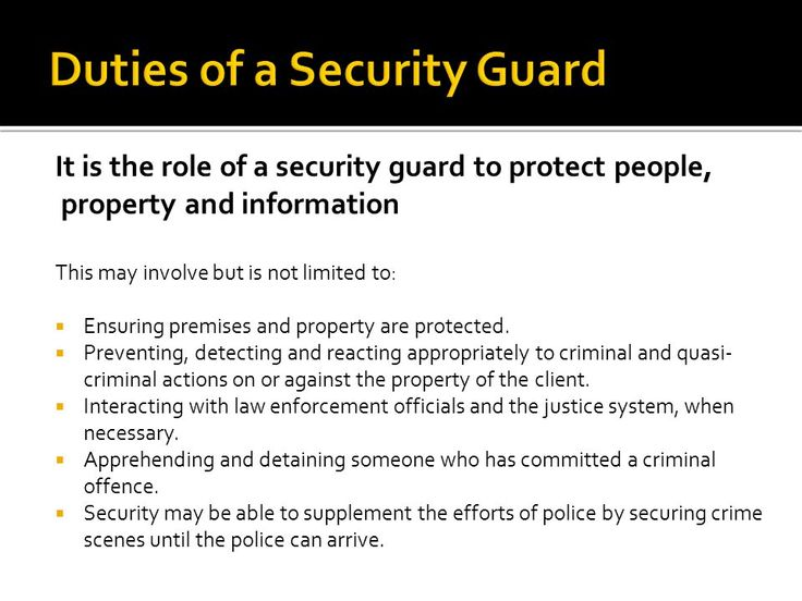 Image result for security guard duties and