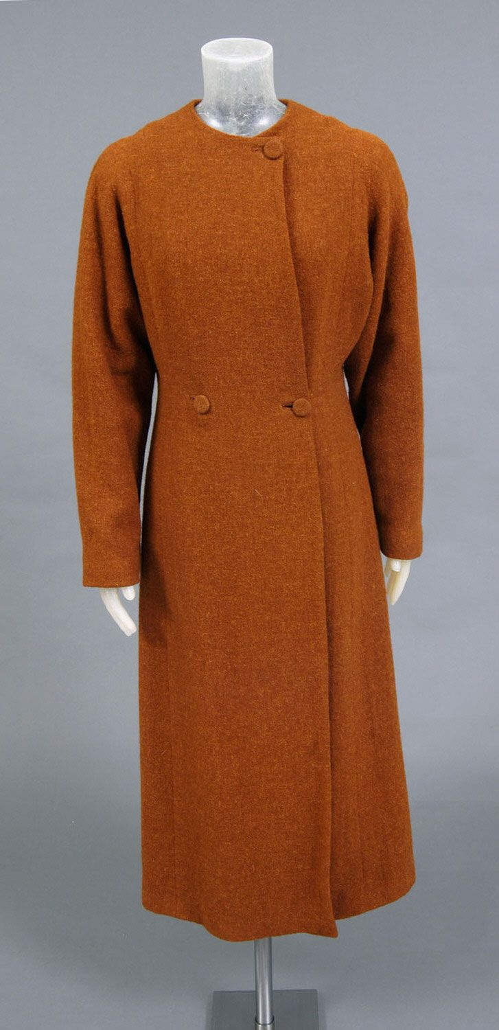 Woman's Coat  Designed by Valentina  Geography: Made in Paris, France, Europe Date: 1930 Medium: Bronze wool  Accession Number: 1961-97-4a