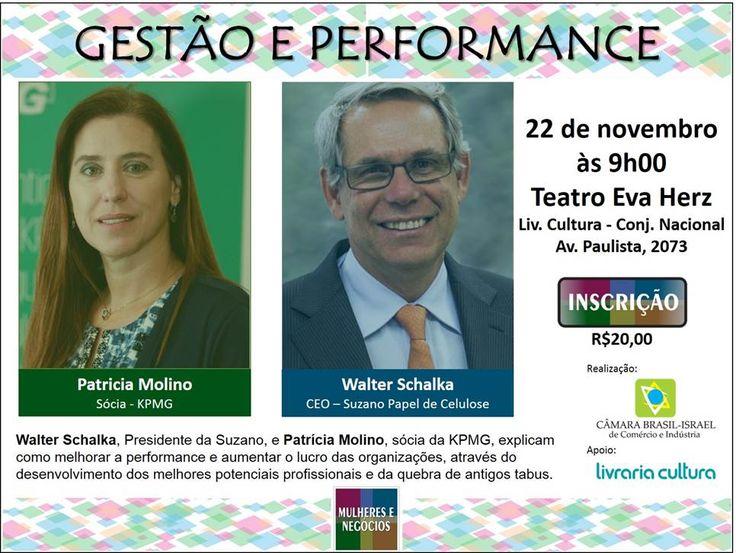 """""""Mulheres e Negócios – Tendências"""" – Bate –papo com Walter Schalka, Presidente da Suzano, e Patrícia Molino, sócia da KPMG."""
