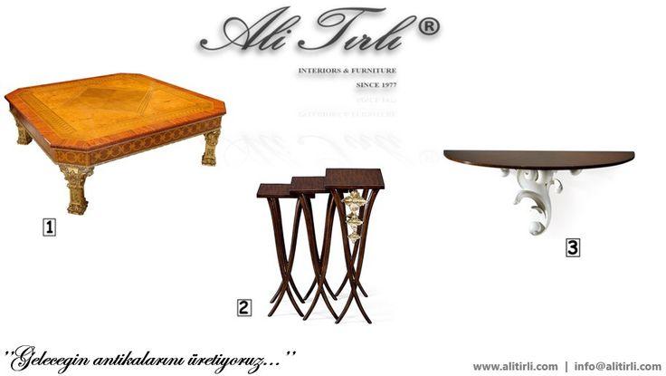 """Geleceğin antikalarını üretiyoruz..."" | Ali Tırlı Interıors Furnıture | +90 212 297 04 70 #alitirli #architecture #sehpa #homedecor #mimar #icmimar #livingroomdecor #istanbul #home #unique #textiles #duravit #evtekstili #yesilkoy #homeinterior #interiors #classic #furniture #evdekorasyonu #magaza #mobilya #perde #florya #holiday #holidaydecor #masko #art #luxury #interiorsdesign #turkey"