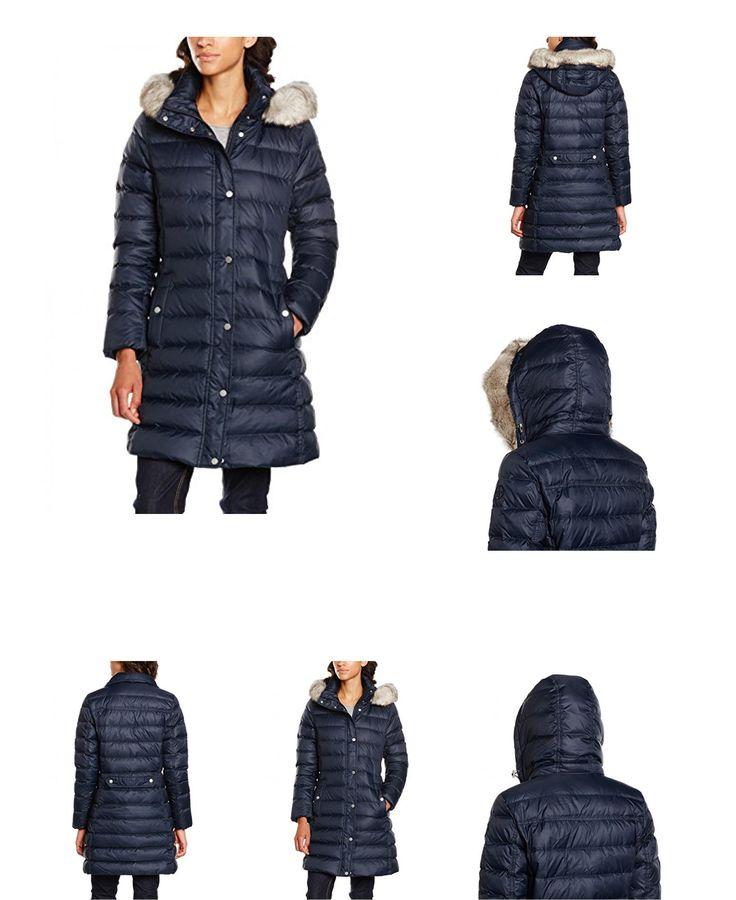 8719112077207 | #Tommy #Hilfiger #Damen #Mantel #New #Tyra #Down #Coat, #Blau #(Midnight #403), #34 #(Herstellergröße: #XS)