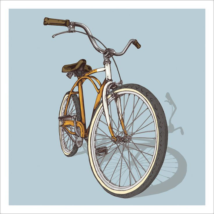 Bicycle Illustration Trilogy - 02 - Beach by Studio Epitaph http://www.studioepitaph.com/work#/bicycle-illustrations/ — Designspiration