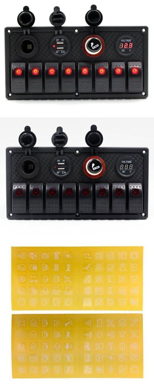 boat parts: 8 Gang Led Car Marine Boat Rocker Switch Panel Power Socket Dual Usb Waterproof -> BUY IT NOW ONLY: $55.61 on eBay!