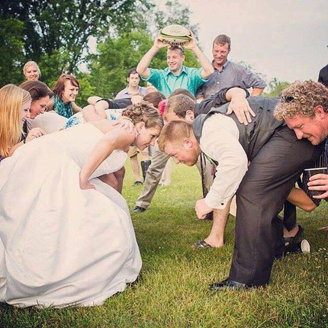 What I Want. A Rugby Wedding!