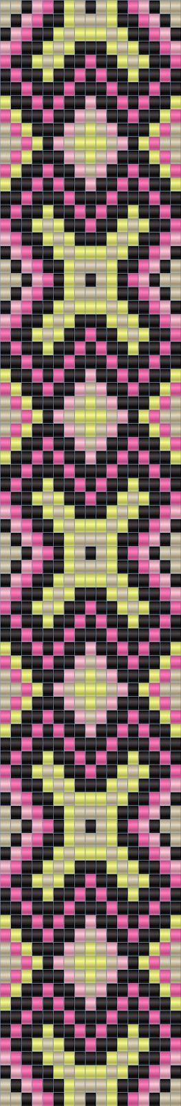 Схема браслета - ткачество / гобеленовое плетение - bead loom pattern