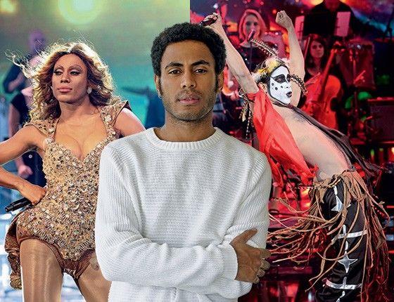 """Ícaro Silva já encarnou Beyoncé e Ney Matogrosso no """"Show dos famosos"""": """"Não tenho formação de dançarino, mas coloco meu corpo à disposição"""" (Foto: Globo/Divulgação (3))"""
