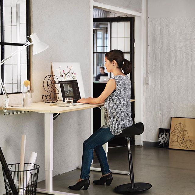 The Move is perfect with height-adjustable desks