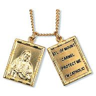 SCAPULAR MEDAL NECKLACE - GOLD OVER STERLING