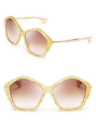 Miu Miu Oversized Layered Star Sunglasses   Bloomingdale's