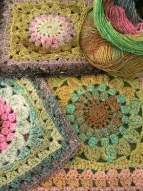 Noro Silk Garden Crochet Granny Squares