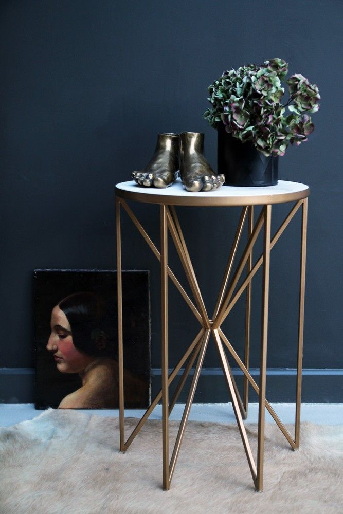 Butterfly Side Table - Brass