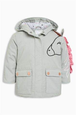 bef1c531d345 Girls Next Unicorn Jacket (3mths-6yrs) - Grey  affiliate link ...