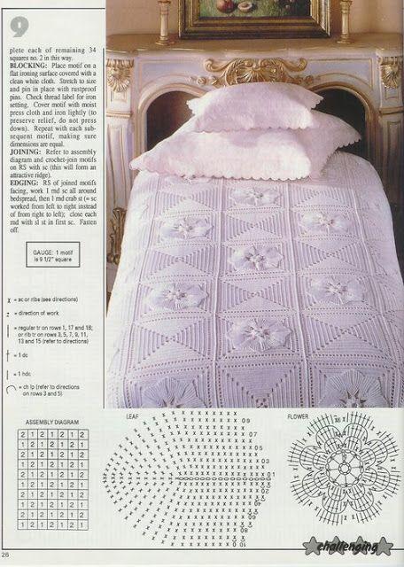 335 besten crochet bedspread Bilder auf Pinterest | Häkeln bettdecke ...