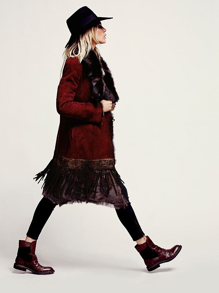More Than Roses Sheepskin Jacket at Free People Clothing Boutique