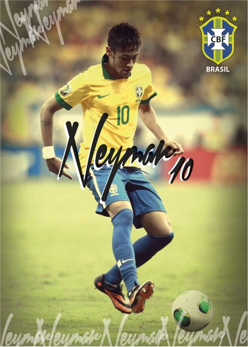2014 World Cup - Brazil Squad by Janine Smith, via Behance