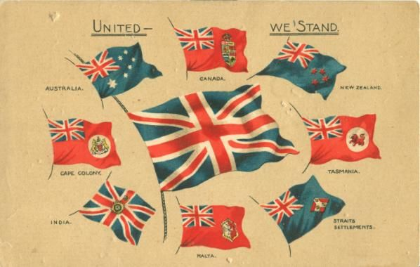 British Empire Flags-Ensigns A Canadian Family Vintage Postcard Collection