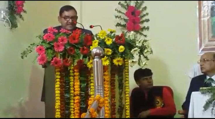 "Vice Chancellor Shimla University AGU, Dr Ashok Kumar Raghav delivered lecture on ""Sustainable Agriculture in India and challenges"" in 19th Indian Agriculture Scientists and Farmers' congress at Allahabad."