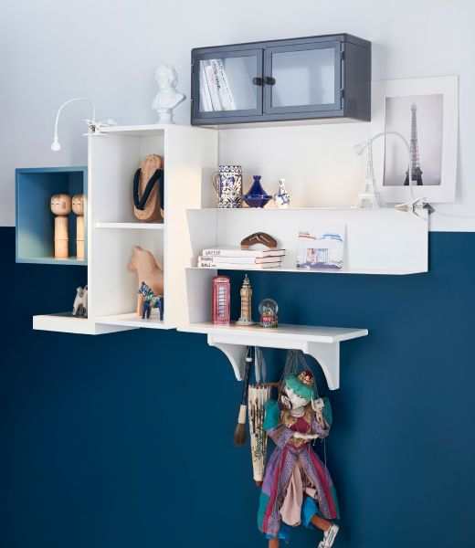 Ikea - display shelves. Entryway decor idea. Just add coat hooks