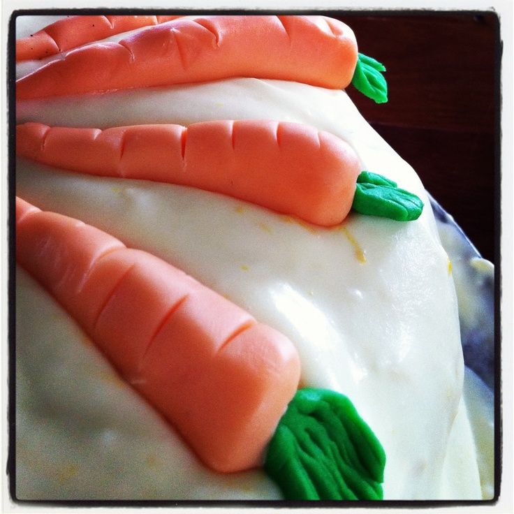 Handmade fondant carrots