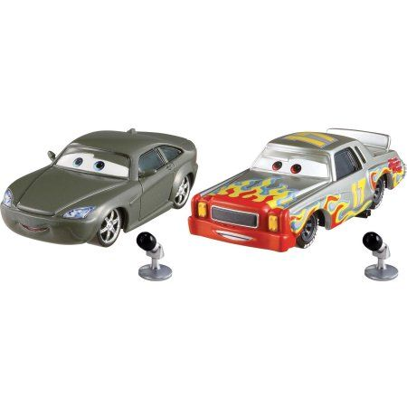Disney/Pixar Cars Bob Cutlass With Microphone & Darrell Cartrip With Microphone Die-Cast Vehicle 2-Pack