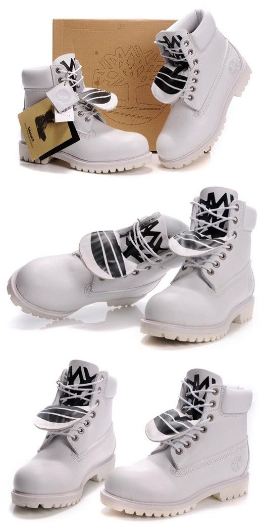 Timberland Mens Authentic 6 Inch Double Tongue Bright Leather Boots All White,Fashion White Timberland Men Boots,New timberland classics Boots 2016,customized timberland boots