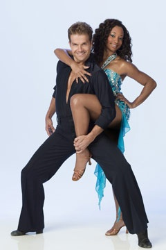 dwts season 3 cast celebrity monique coleman and professional louis van amstel