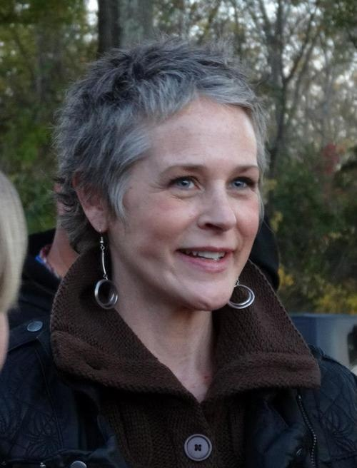 Melissa McBride...so beautiful <3>>very pretty, love short hair and long earrings together