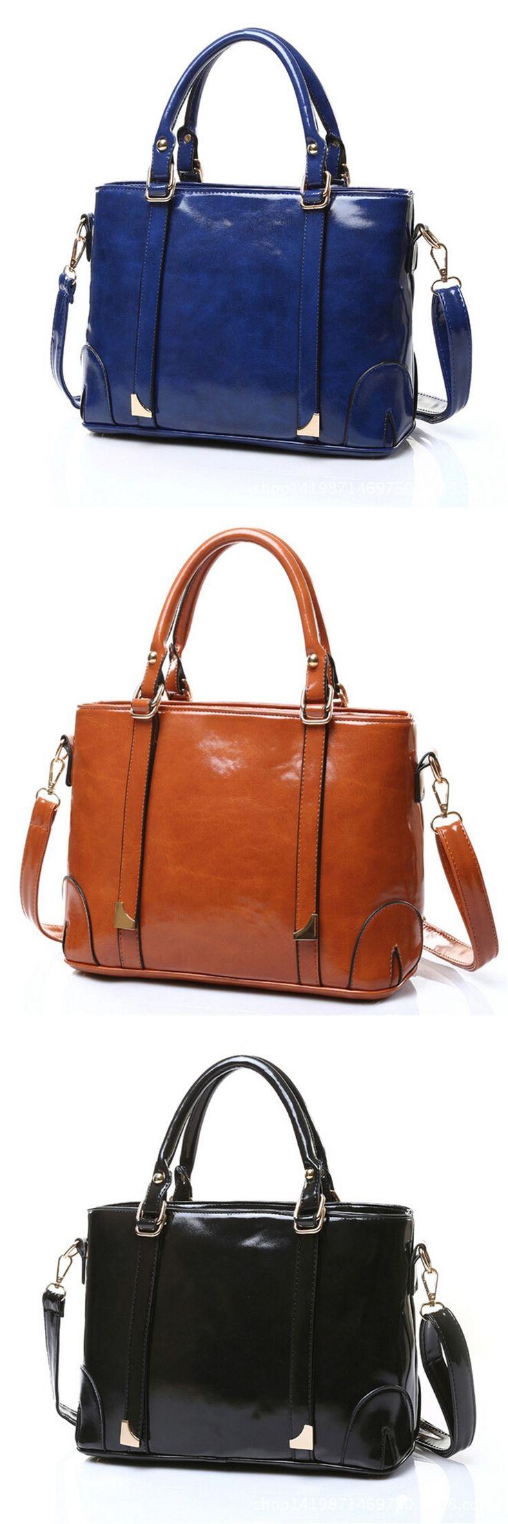 new fashion handbags wholesale handbags Korean version of the big oil skin bag messenger bag a generation of fat 5 color options