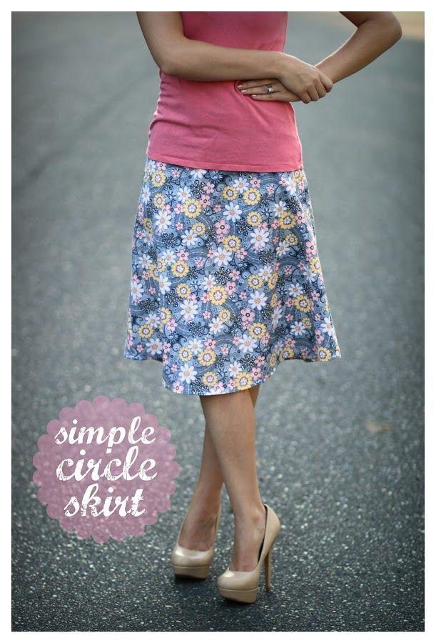 Simple Circle Skirt Tutorial