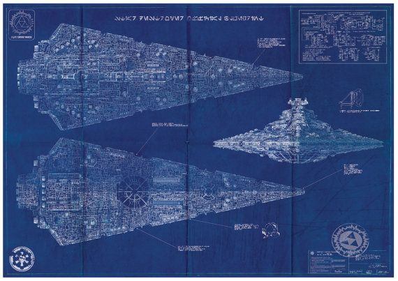 The 88 best posters images on pinterest film posters cinema imperial star destroyer star wars poster blueprint a2 420mm594 or 165 234 malvernweather Gallery