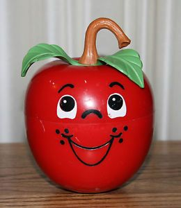 ... 1972 Fisher Price 435 Long Stem Happy Apple Roly Poly Chime Toy | eBay