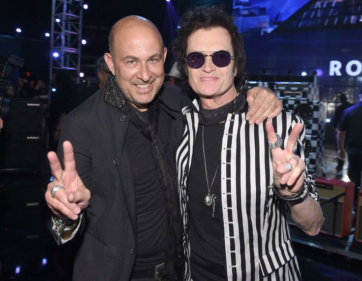 Me and my brother John Varvatos, the man who designs ALL of my clothes and footwear ~ Rock 'n Fashion