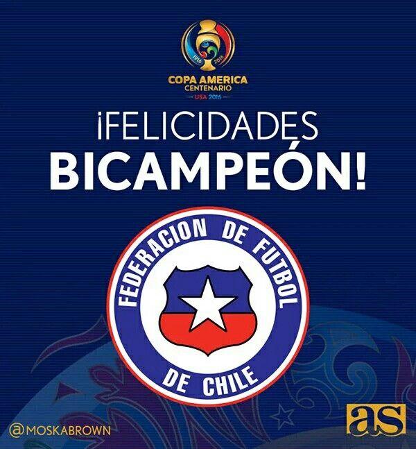 Chile 16 Bicampeon del Torneo de la Copa America 2016