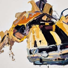 """Ben Quilty - I found out about Ben's work through Ben's grandmother. I remember his grandmother saying, """"My grandson is a painter! He's crazy! He loves painting cars. If you go to his house, there are pictures of cars everywhere!"""" lol"""