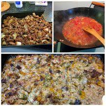 Köttgryta i ugn.Stekt köttet och löken med kryddor. Gör en tomatbaserad sås. La allt i en långpanna för att kokas länge i ugnen tills köttet blir ätbart. Sista timmen hälldes det på grädde och okra (lady finger) gott tillsammans med stekt ägg eller blomkål