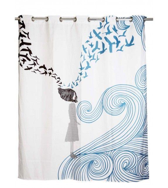 M s de 1000 ideas sobre cortinas de ba o en pinterest - Cortinas de ducha originales ...