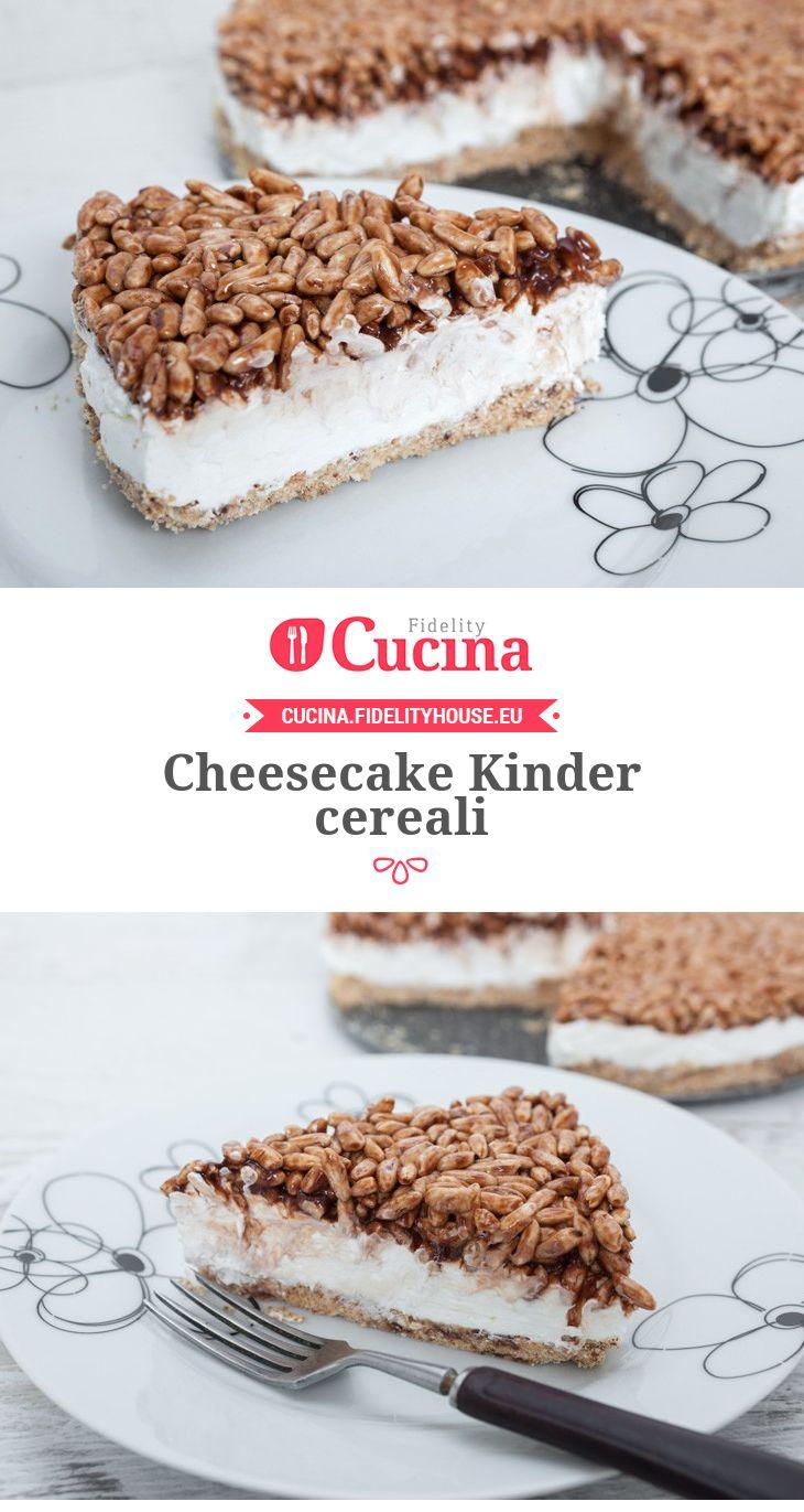Cheesecake Kinder cereali