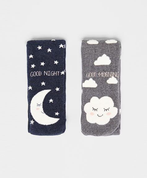 Moon and cloud socks - OYSHO