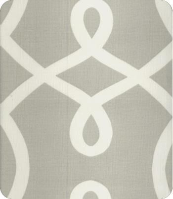 drapery panels - trimmed with a grass green grosgrain ribbon - must have