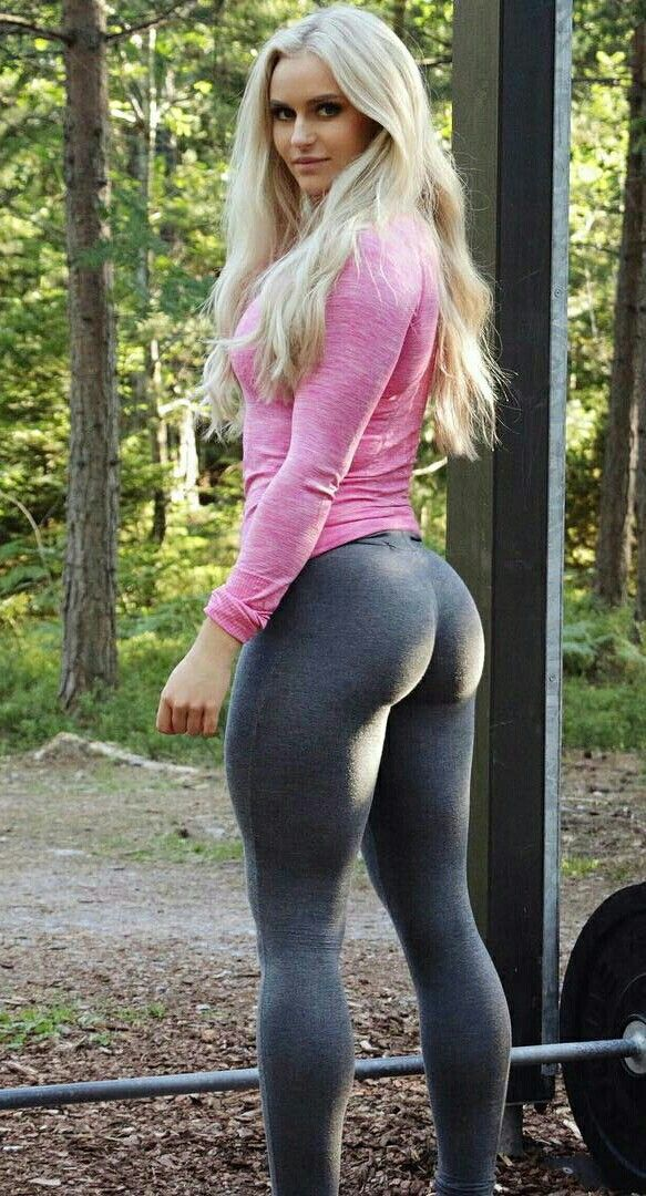 And have blonde with leggins have