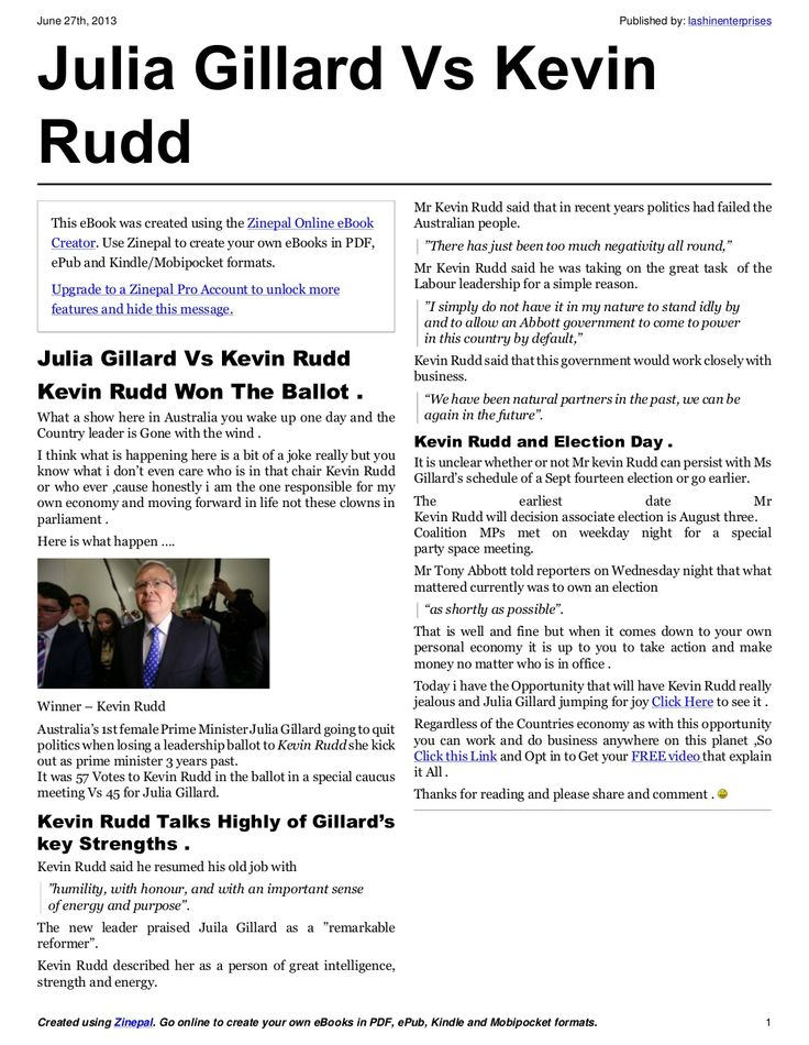 Julia gillard vs kevin rudd
