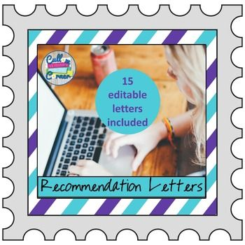 Do you have a hard time writing recommendation letters for your students? What about student teachers or teaching colleagues? Look no further! This packet is all you need! This product contains: 1. 15 Microsoft Word Fully Editable Sample Recommendation Letters that are straight from my personal file.