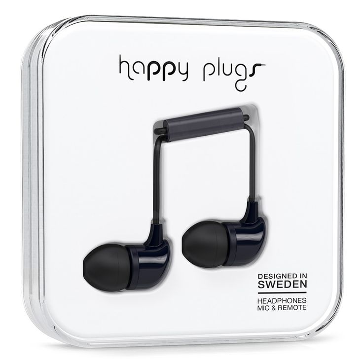 The Happy Plugs In-Ear Black is the perfect headphones to be mixed and matched with your outfit of the day. Check out all colors online.